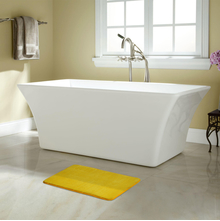 40'x60' Solid Memory Foam Bathmat @home By Nilkamal, Yellow