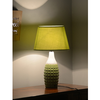 Engrave Tropical 27X50CM Medium Table Lamp, Green