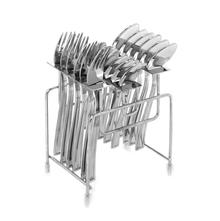 Desire 18Piece Cutlery Set with Stand, Silver