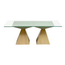 Spatial Pedestal Centre Table, Beige & Green