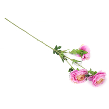 Wild Rose 3 Blooms Flower Stick - @home by Nilkamal, Purple