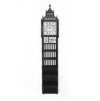 Big Ben Multi Use Floor Clock - @home by Nilkamal, Black