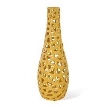 Urban Tall Net Vase - @home by Nilkamal, Yellow