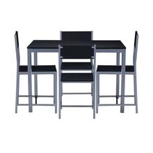 Nilkamal Wigo 1+ 4 Dining Set,  black