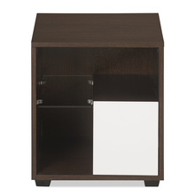 Guardian Night Stand - @home by Nilkamal, Walnut and White