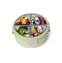 Avengers Round Lunch Box, White & Green