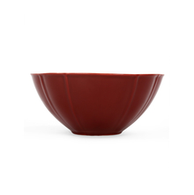 Solid Stoneware Serving Bowl, Maroon