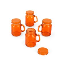 Mason Glass 120 ml Spice Jar Set of 4, Orange
