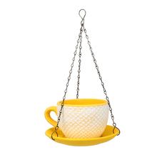 Cup Saucer Hanging Planter - @home by Nilkamal, Yellow