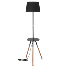 Trudo with Table 35X155CM Floor Lamp, Black