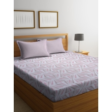 Abstract Triangle 250 cm x 274 cm Double Bedsheet, Pink