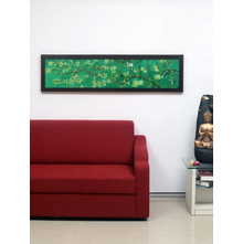 Bird on Floral Branch Painting, Emerald