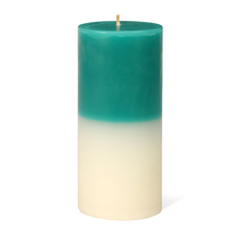 Jasmine Large Two Tone Wax Candle - @home by Nilkamal, Blue