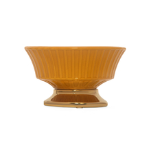 Mirage Lux Bowl with Stand, Mustard