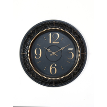 Antique Carved Wall Clock - @home by Nilkamal, Black