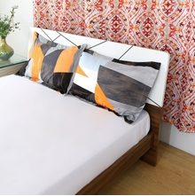 Block 46 x 69 cm Pillow Cover Set of 2 - @home by Nilkamal, Orange