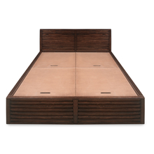 Rigato Queen Bed with Storage, Walnut