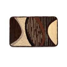 Milange Abstract 39 cm x 61 cm Doormat - @home by Nilkamal, Brown