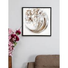 Sea Wave 55X55 CM Painting, Bronze