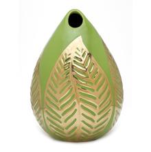 Small 18X25Cm tropical Leaf Vase, Green