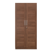 Sansa 2 Door Wardrobe - @home by Nilkamal, Walnut