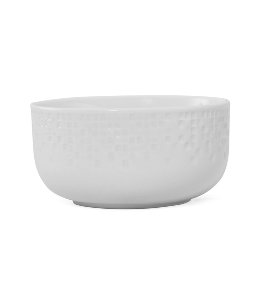 Mosaic Collection Soup Bowl - @home by Nilkamal, White