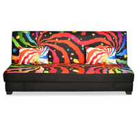 Nilkamal Clarity Sofa Cum Bed, Black