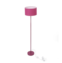 Floor Lamp with Drum shaped Shade - @home by Nilkamal, Maroon
