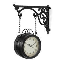 Elegant Station 29cm x 9 cm x 21 cm Clock - @home by Nilkamal, Black