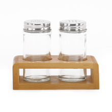 80 ml Salt & Pepper Set with Stand - @home by Nilkamal, Multicolor