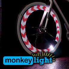 M210 MONKEY LIGHT - 80 Lumen - Bicycle/Cycle Wheel Light - 10 Full Color LED - Waterproof - HIGH PERFORMANCE Wheel LIGHT - MADE IN USA