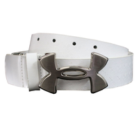 Under Armour Logo Leather Belt - White,  white, 40