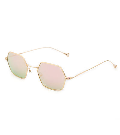 Funky Town Hexagon Sunnies (Rose Gold Reflective)
