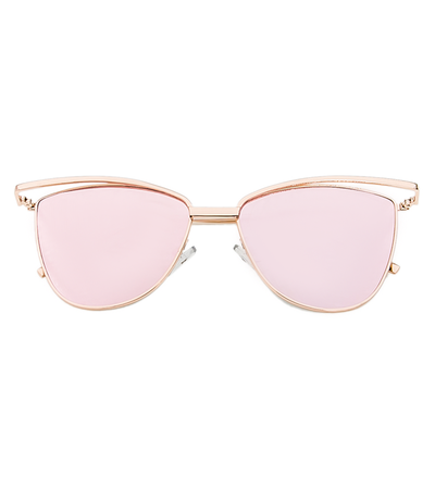 Purr-fect Cat Eye Sunnies (Rose Gold Reflective)