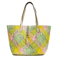 Criss Cross Reversible Green Tote
