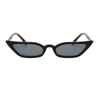 Lash Line Micro Black Sunglasses