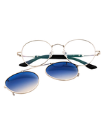 Dual Purpose Sunglasses (Blue Lens)