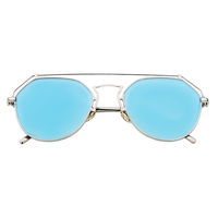 Roof Is On Wire Sunnies (Blue Reflective)