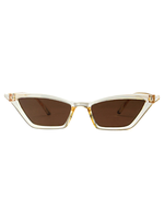 Kylie Micro Cat Eye Light Brown Sunglasses