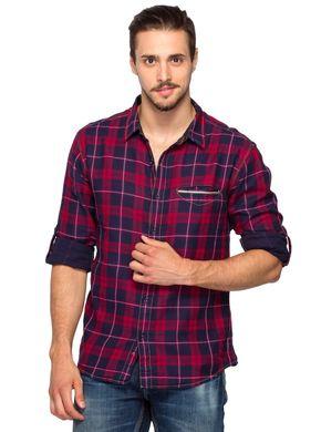 Slim Fit Shirt, l,  brick red