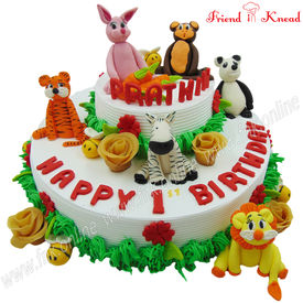 Zoo Theme Cake 3 Kg Egg Select Time