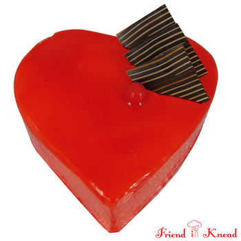 Heart Strawberry Cake, select time, egg, 0.5 kg