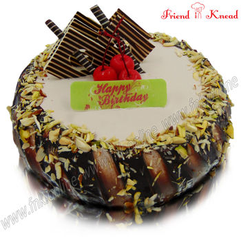 Eggless Choco Nuts Cake, 0.5 kg, select time, eggless