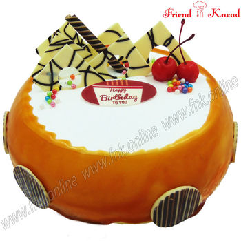 Eggless Butterscotch Fudge Cake, 0.5 kg, select time, eggless