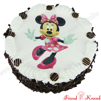 Hello Minnie Photo Cake, choice 1, egg, 1 kg