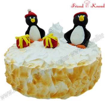 Kids' Special - Pingu Snow Cake, eggless, select time, 1.5 kg