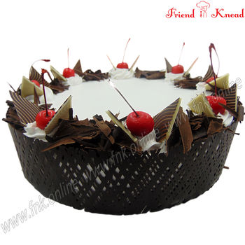 Eggless Elite Black Forest Cake, 0.5 kg, eggless