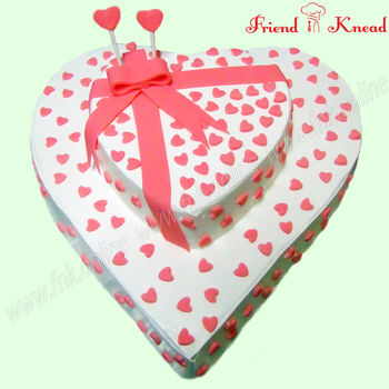 Lovely Hearts Wedding Cake, pineapple, select time, 3 kg