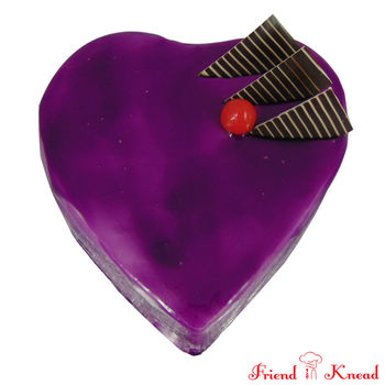 Heart Blueberry Cake, select time, eggless, 0.5 kg