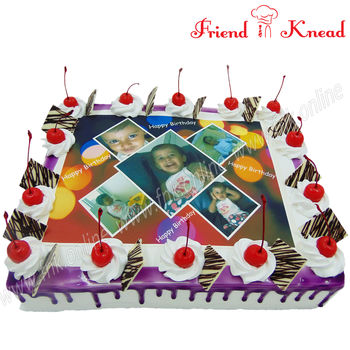 Customized Photo Cakes, 0.5 kg, choice 1, egg